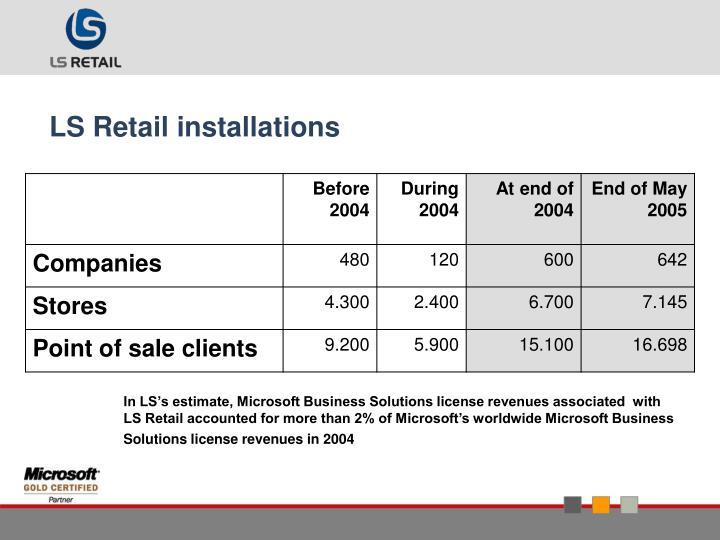 LS Retail installations