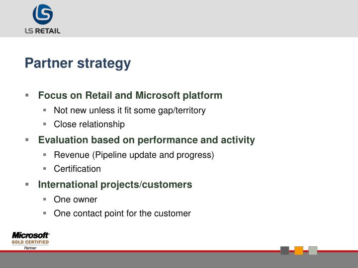 Partner strategy