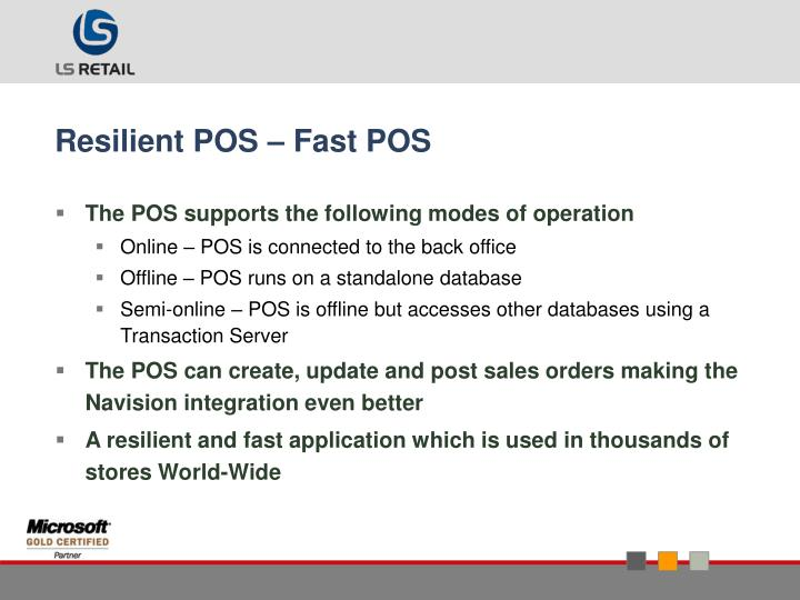 Resilient POS – Fast POS