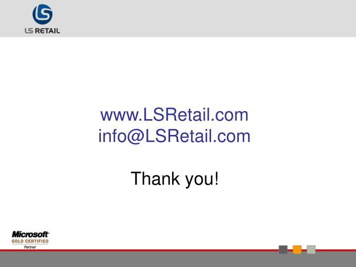 www.LSRetail.com