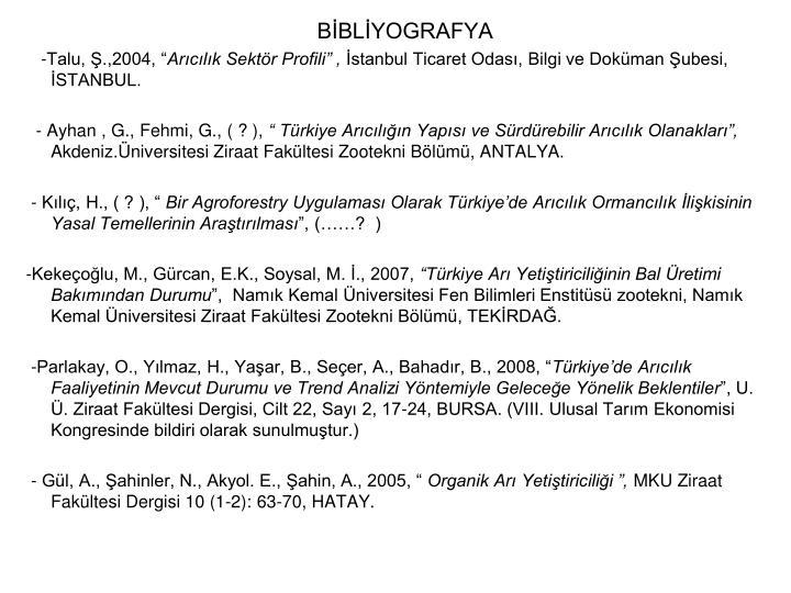BBLYOGRAFYA