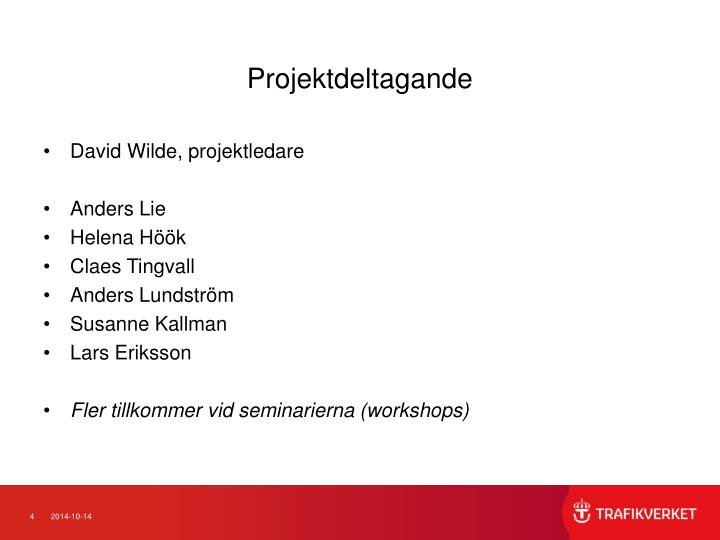Projektdeltagande