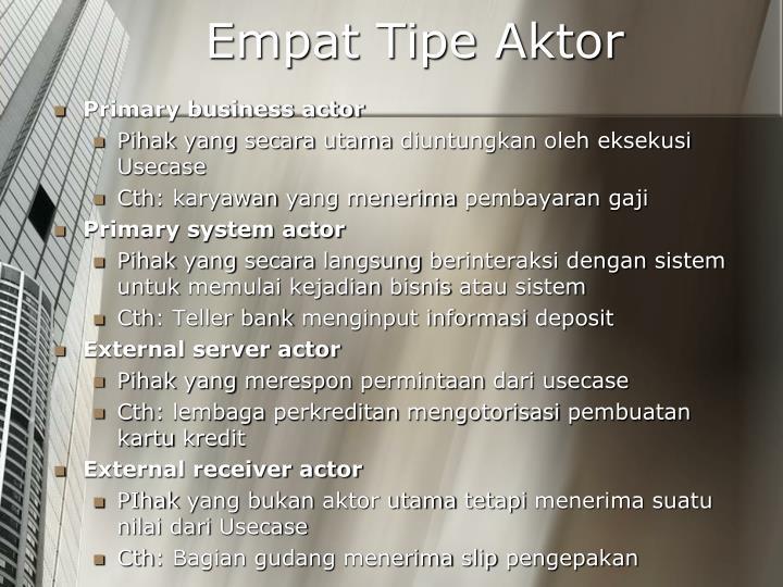 Empat Tipe Aktor