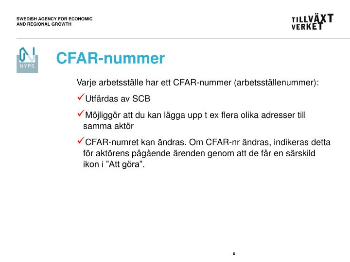 CFAR-nummer