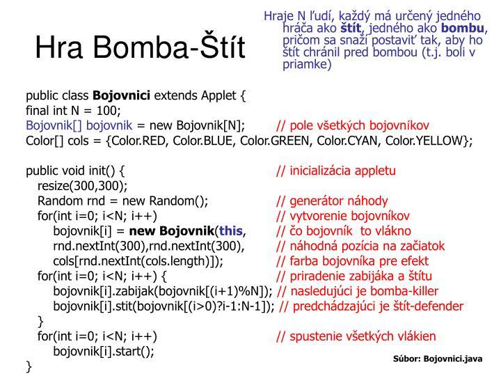 Hra Bomba-