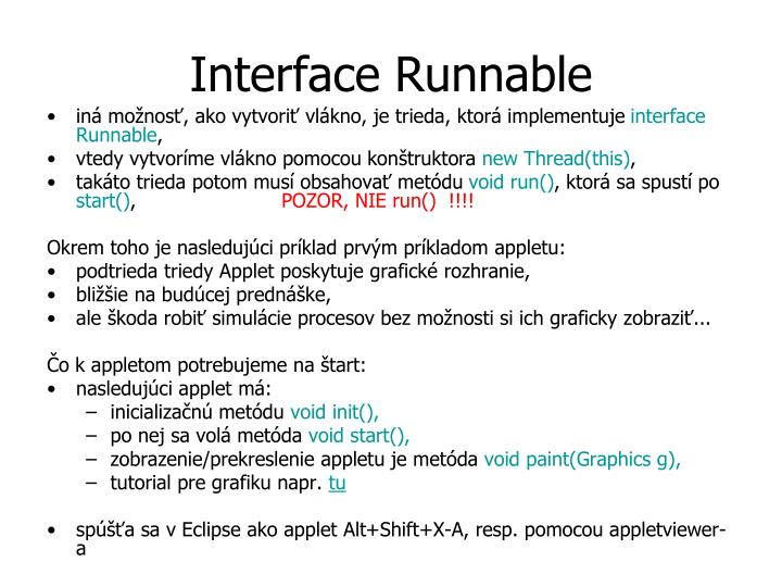 Interface Run