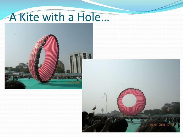 A Kite with a Hole…