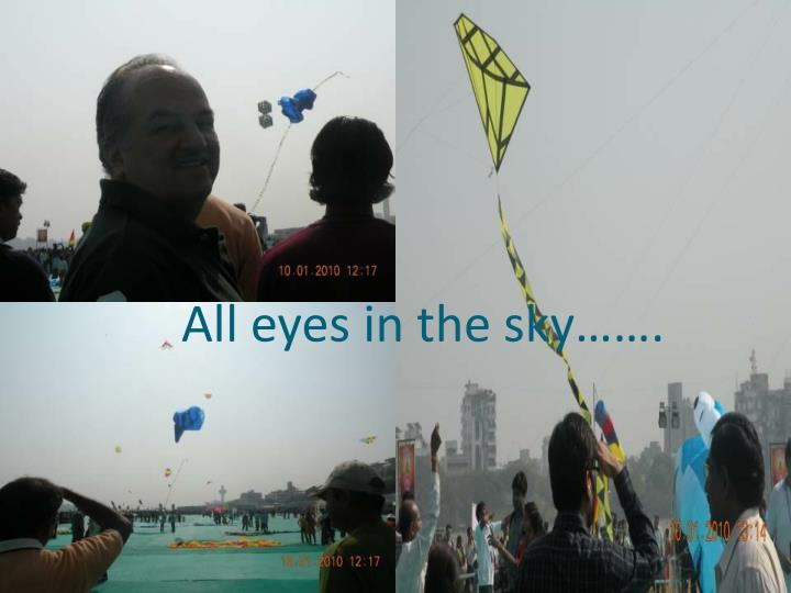 All eyes in the sky…….