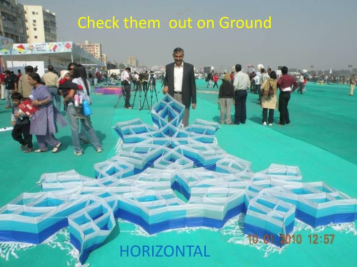 Check them  out on Ground