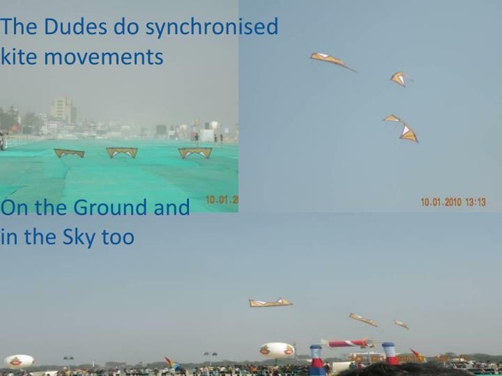 The Dudes do synchronised kite movements