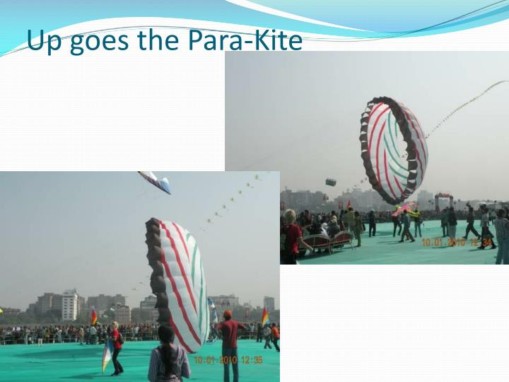 Up goes the Para-Kite