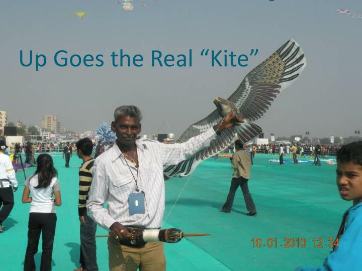 "Up Goes the Real ""Kite"""