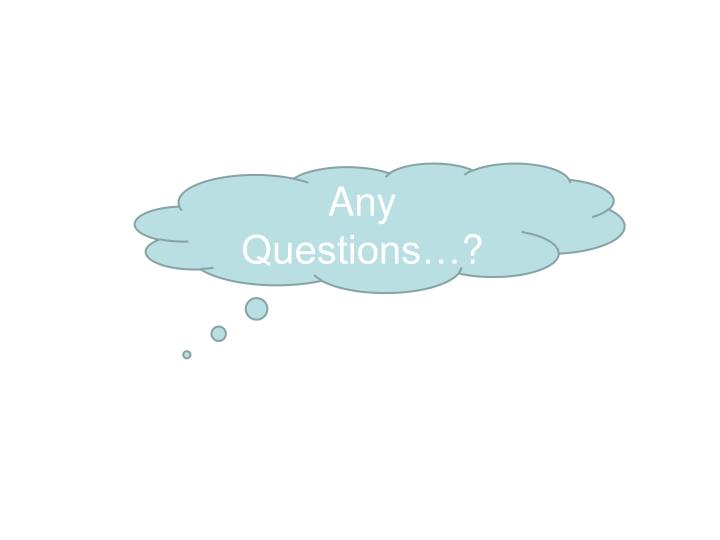 Any Questions…
