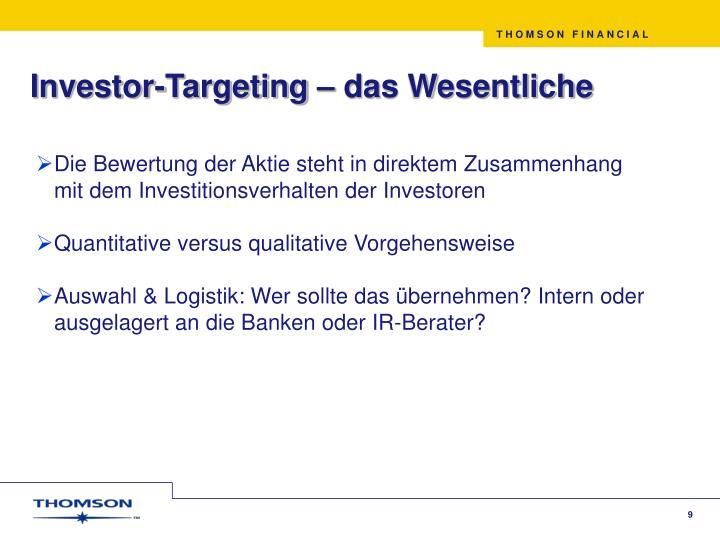 Investor-Targeting – das Wesentliche