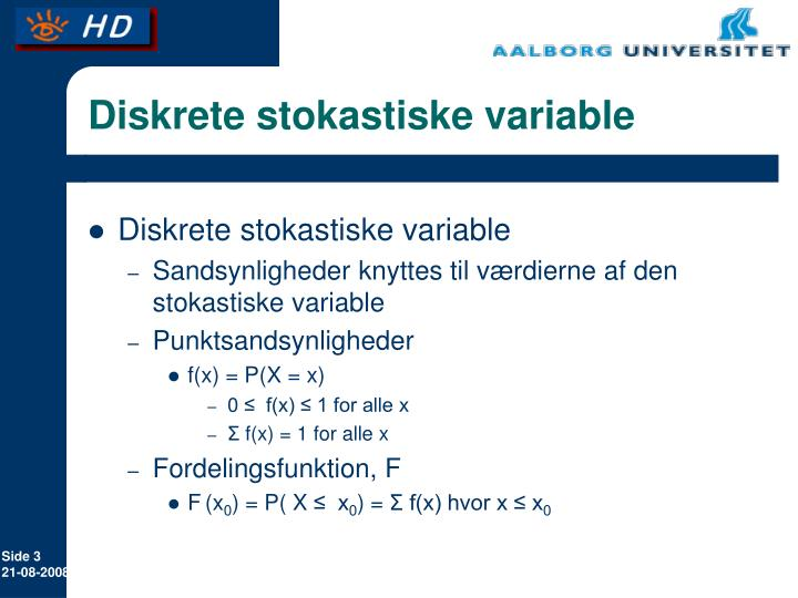 Diskrete stokastiske variable