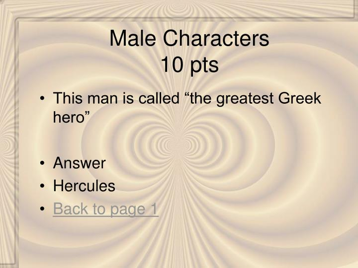 Male Characters
