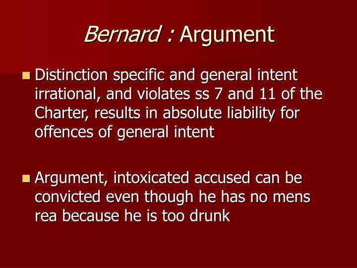 Bernard :