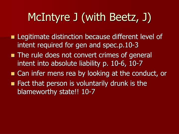 McIntyre J (with Beetz, J)