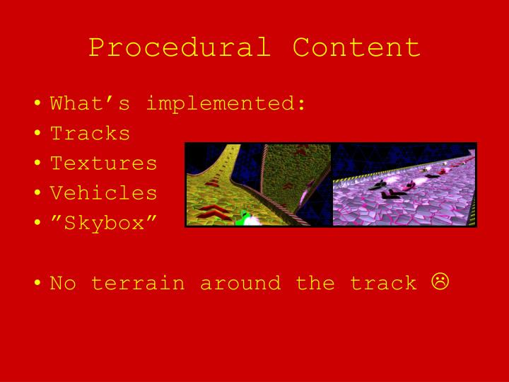 Procedural Content