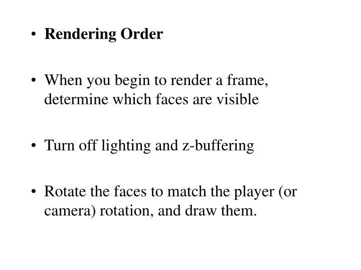 Rendering Order