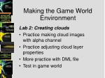 making the game world environment5