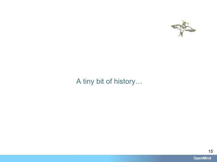 A tiny bit of history…