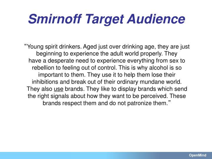 Smirnoff Target Audience