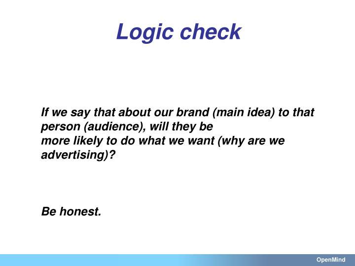 Logic check