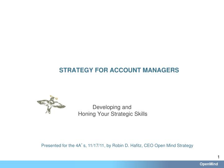 Strategy for account managers
