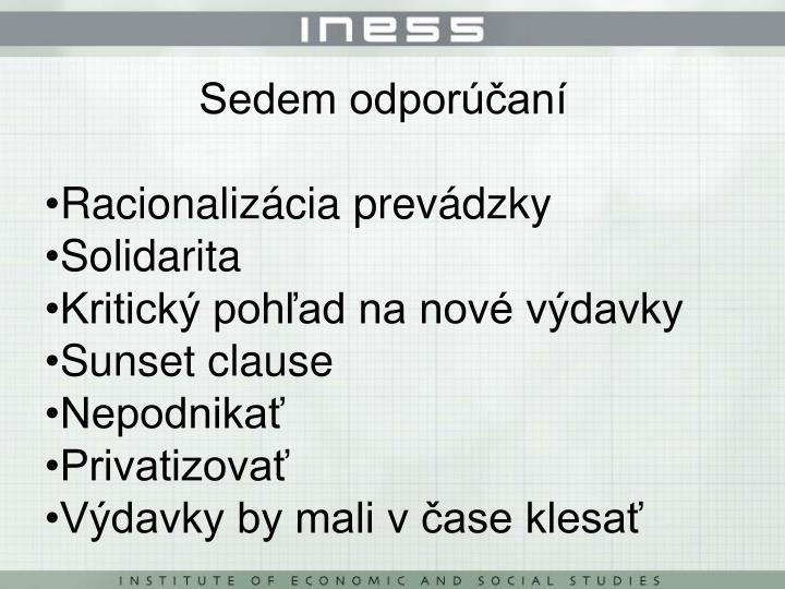 Sedem odporúčaní