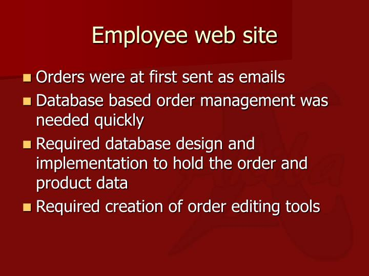 Employee web site