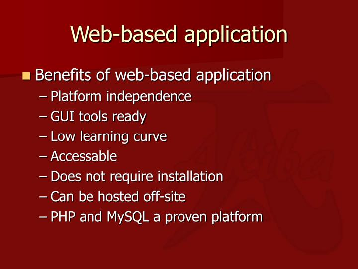 Web-based application