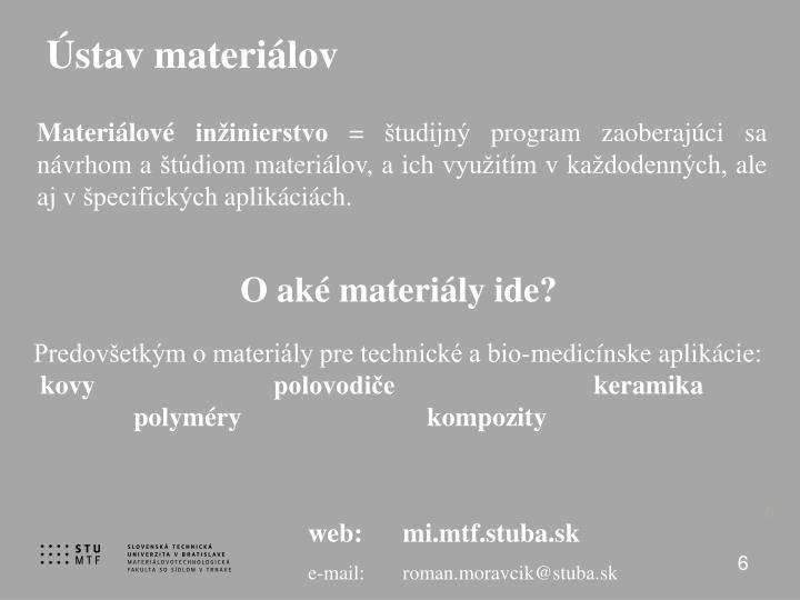 Ústav materiálov