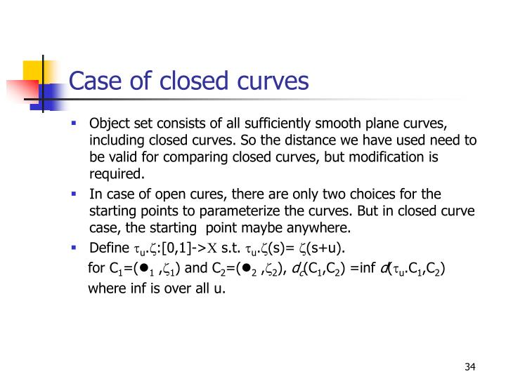 Case of closed curves