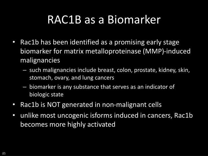 RAC1B as a Biomarker