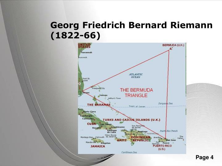 Georg Friedrich Bernard Riemann (1822-66)