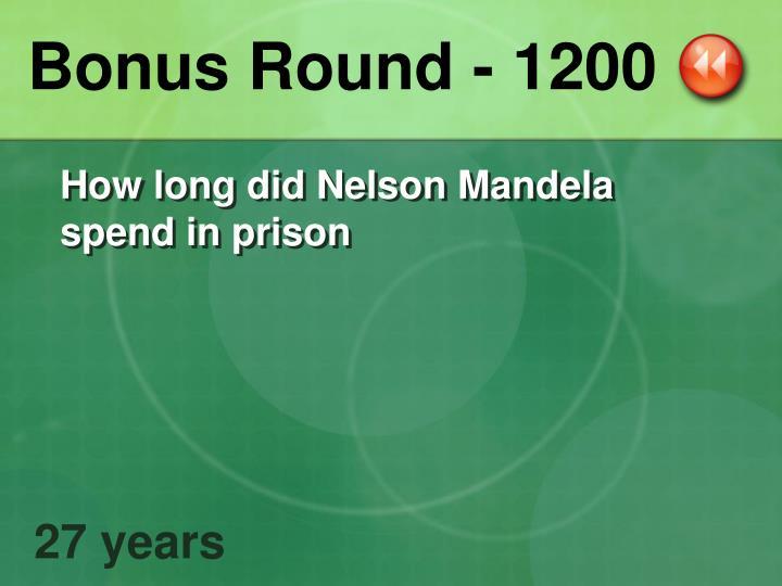 Bonus Round - 1200