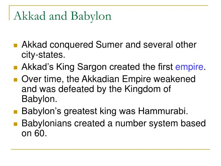 Akkad and Babylon