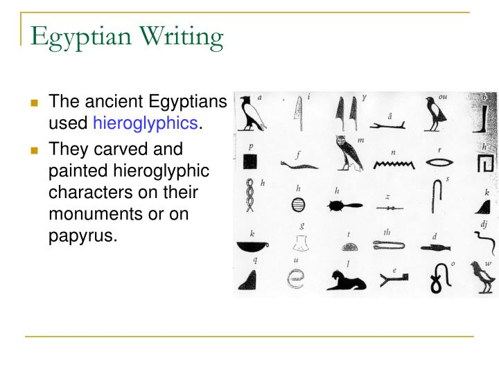 The ancient Egyptians used