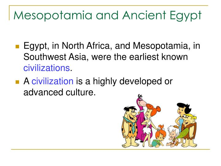 Mesopotamia and ancient egypt1