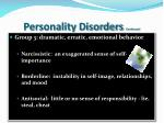 personality disorders continued1