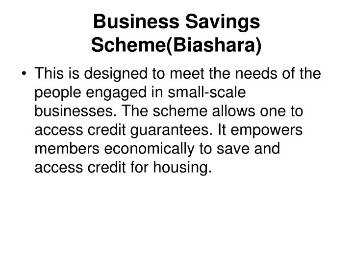 Business Savings Scheme(Biashara)