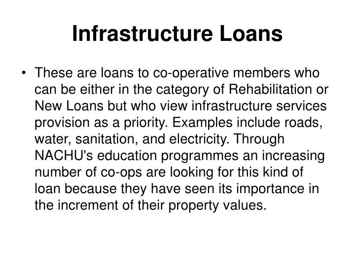 Infrastructure Loans