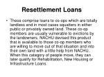 resettlement loans