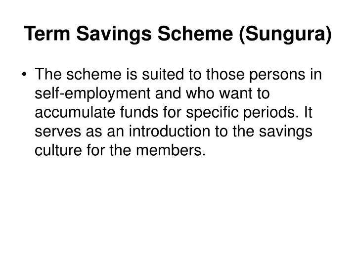 Term Savings Scheme (Sungura)