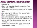 aged character for film