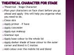 theatrical character for stage