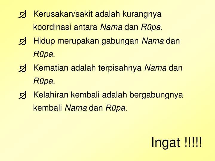 Ingat !!!!!