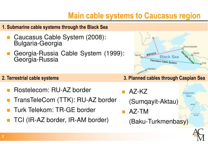 Main cable systems to caucasus region