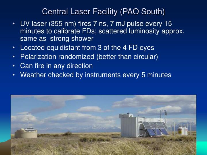 Central Laser Facility (PAO South)